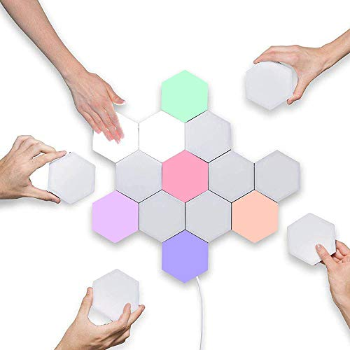 LED Hexagonal Muurlampen Smart Touch-Sensitive LED Honeycomb Night Lights DIY Modular Gemonteerd Splicing Modern wandlampen Decor van het Huis AC110-240V