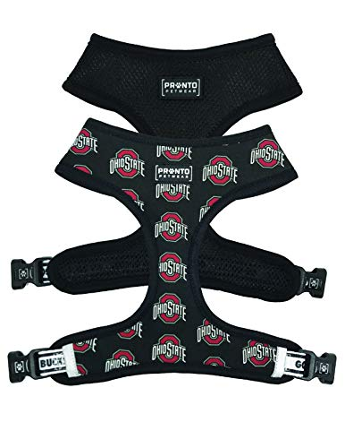 OSU Scarlet /& Gray Pet Collar with Removable Bow Pronto Petwear NCAA Ohio State
