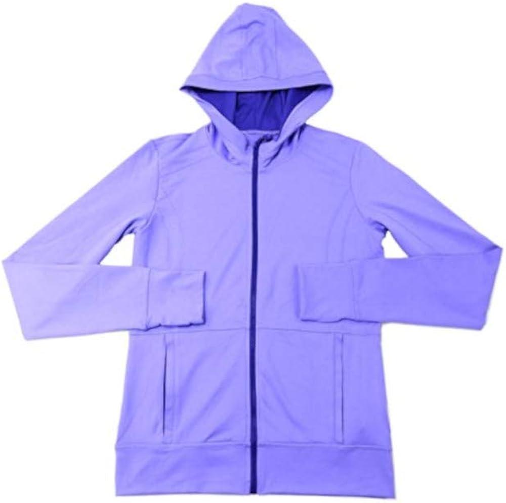 Kirkland Signature Girls Size X-Large (16) Full Zip Hooded Jacket, Purple