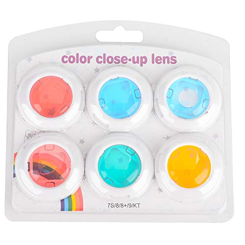 Elerose Farbfilter für Fujifilm Instax Mini 7S / 8/8 + / 9,Close-up-Objektiv Farbfilter, Instant Camera Flashlight Flash-Filter-Set (6 Farb)