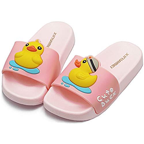 HSNA Zapatillas de Ducha para Niños Chanclas Piscina Niña Sandalias de Baño Antideslizantes