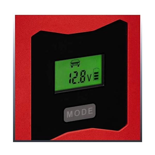 Einhell 1002241 Cargador Bateria CC-BC 10 m con Control Micro-Processor Voltaje 6/12v, Negro, Rojo