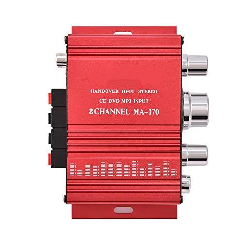 Tihebeyan Mini Potencia portátil Estéreo Sonido Sonido Audio AMP Doble Canal HiFi Estéreo Bajo Audio Amplificador de Potencia Amplificador Digital