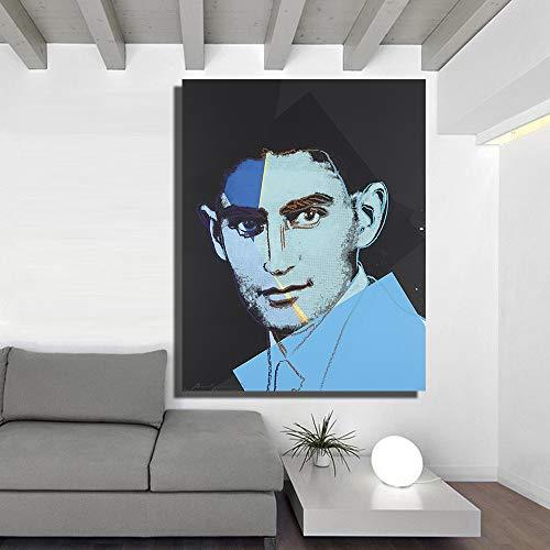nr Andy Warhol Franz Kafka Wandgemälde und Poster aus zehn Porträts jüdischer Ölgemälde auf Leinwand-50x70cm-rahmenlos
