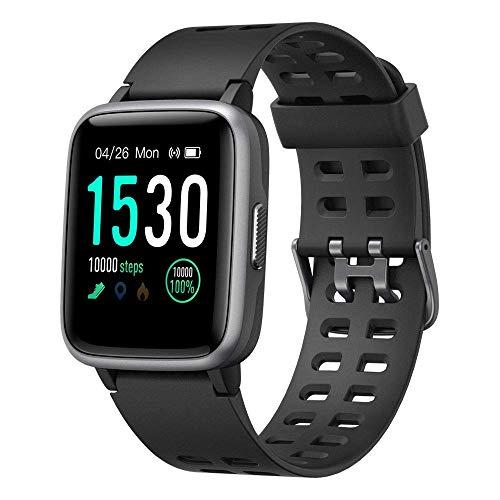 BuFan Smartwatch Reloj Inteligente Deportivo con Pulsómetro, 1.3inch Pantalla Completa Táctil Fitness Tracker, Mensajes y Notificación de Llamadas, Pulsera Inteligente para Deporte con Cronómetro, Podómetro, Monitor de Sueñ