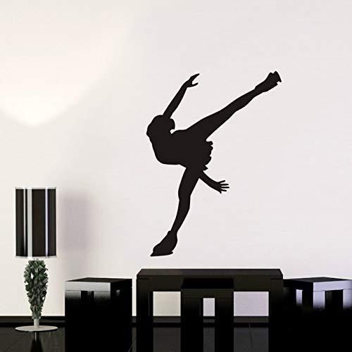 Pegatina de coche de patinaje artístico, carteles de deportes de hielo para esquí, calcomanías de pared, decoración, pegatina Mural, pegatinas de pared A5 58x80cm