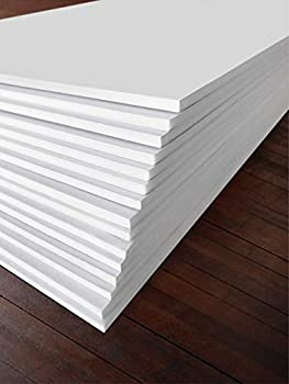 Excelsis Design Pack of 15 Foam Boards  Acid-Free  8x10 Inches  Many Sizes Available  1/8 Inch Thick Mat White with White Core  Foam Core Backing Boards Double-Sided Sheets