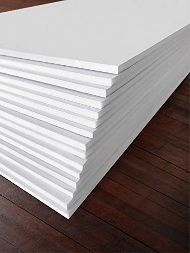 Excelsis Design, Pack of 15, Foam Boards (Acid-Free), 8x10 Inches (Many Sizes Available), 1/8 Inch Thick Mat, White with White Core (Foam Core Backing Boards, Double-Sided Sheets)