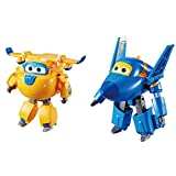 """Super Wings - Transforming Donnie Toy Figure, Plane, Bot, 5' Scale & Wings - Transforming Jerome Toy Figure 
