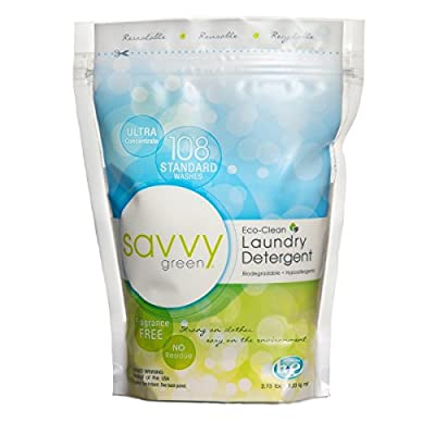 Savvy Green 108 Standard Wash Eco Clean Laundry Detergent