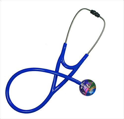 Single Adult Stethoscope - 041 Lighthouse, Royal Blue Tubing