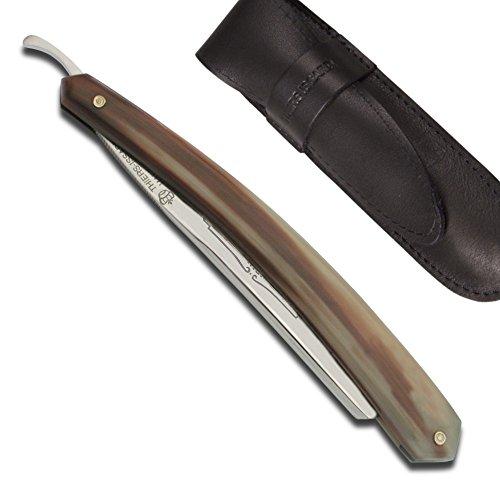 Actiforge Rasiermesser der Bison 5/8–Spitze von hellem Horn–Französisches Kunsthandwerk