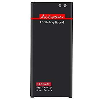 Note 4 Battery Acevan 3450mAh Battery Replacement for Samsung Galaxy Note 4 N910 AT&T N910A Verizon N910V Sprint N910P N910T N910U LTE N910F Galaxy Note 4 Batteries