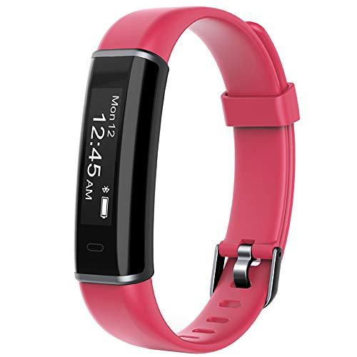 YAMAY Fitness Armband,Wasserdicht IP67 Fitness Tracker Aktivitätstracker Fitness Uhr Smartwatch Schrittzähler Uhr für Damen Herren Vibrationsalarm Anruf SMS Whatsapp Beachten für iPhone Android Handy