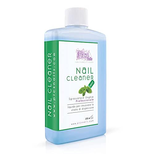 Nail Cleaner Sgrassatore per Unghie Professionale 100 ml Menta - Sgrassante per Unghie di Alta Qualità, Rimuove lo strato di dispersione (appiccicoso) dalla Unghie Ricostruite in Gel Costruttori