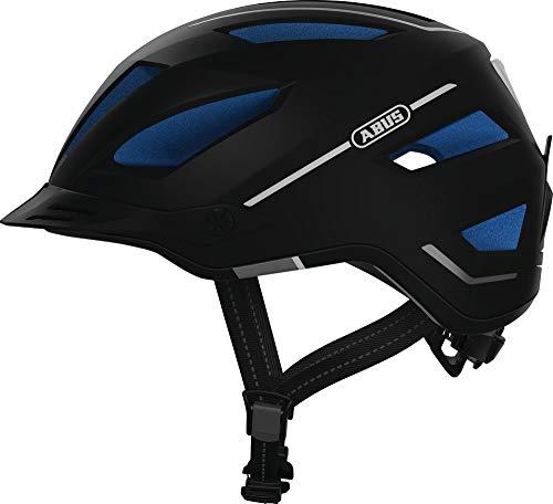 ABUS Pedelec 2.0 Stadthelm - Hochwertiger E-Bike Helm mit Rücklicht für den Stadtverkehr - für Damen und Herren - 81917 - Schwarz/Blau, Größe L