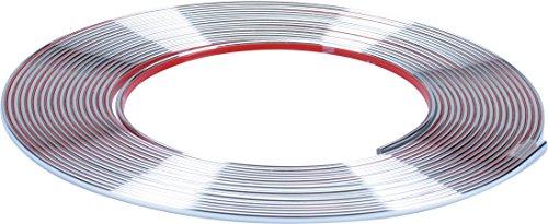 hr-imotion selbstklebende Chrom-Zierleiste - 1000cm x 3,5mm [3M Material | Zuschneidbar | Witterungsbeständig | Hochflexibel] - 12010101