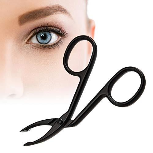 Pinzas de cejas, alicates de cebolina de acero inoxidable, pinzas clips, herramientas cosméticas de corte profesional de punta recta, para el cuidado personal del cabello y las cejas, multicolor