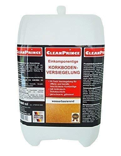 CleanPrince 2 Liter einkomponentige Korkversiegelung   Kork Versiegelung Korkboden-Versiegelung Siegel Glanz Korkoberflächen Korksiegel Anti-Rutsch-Schutz wasserbasierend
