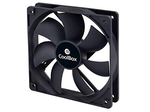 CoolBox Ven Coo Au120 - Ventilador auxiliar (120 mm, 3-pin, 1500 rpm) color negro