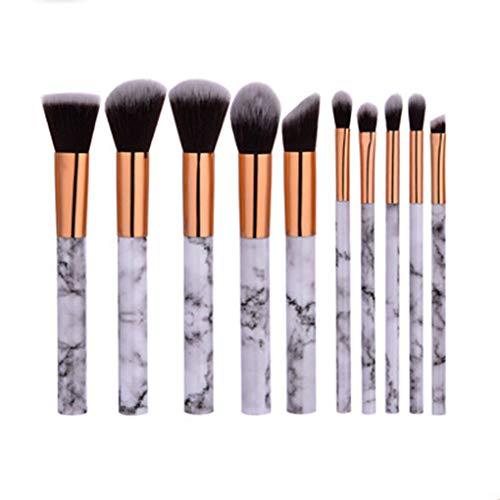 Maquillage Brosses 10Pcs - Fard À Paupières Poudre Mélange Oeil Outil Kazuki Brosse Maquillage Marbre Cosmétiques, Outils De Maquillage Professionnel,Marble 10pcs