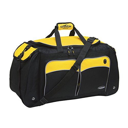 Travelers Club 24' ADVENTURE Travel and Outdoor Duffle Bag, Yellow Option
