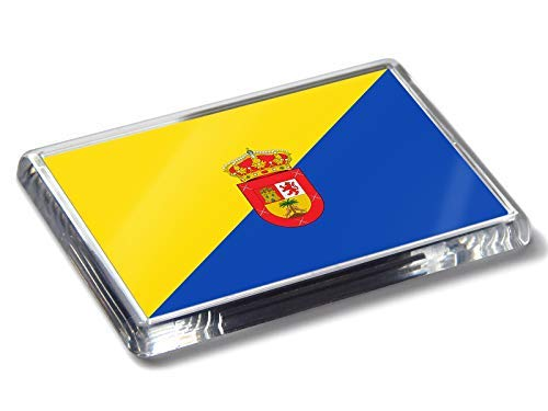 Flag of Gran Canaria - Imán para Nevera, diseño de Bandera de Colores Nacionales