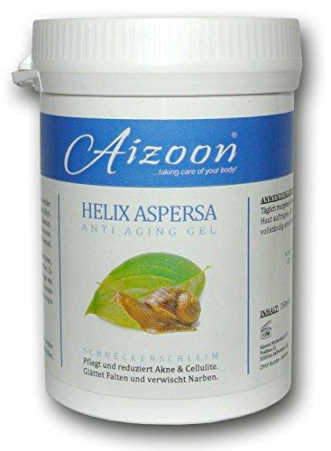 3 Stück Aizoon 250ml Schneckengel Schneckenschleim Schneckencreme Anti Aging Gel Narben Cellulite Creme BEKANNT AUS DEM SAT1 FRÜHSTÜCKSFERNSEHEN