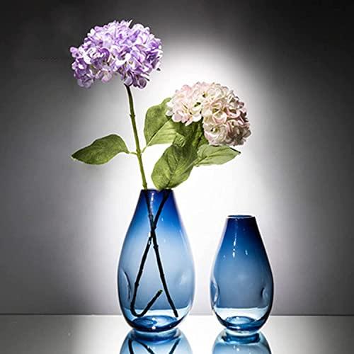 okuya Zestaw wazon ceramicznych 2, ozdobny pączek wazon nowoczesny centralny dla domu, ślub, świąteczny wystrój Rustieke Woondecoratie