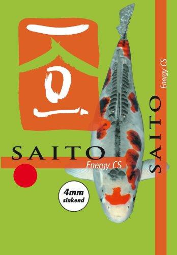Saito Energy CS Sinkfutter für Koi mit zellschützendem Spirulina und Canthaxanthin und besonders hochwertigen Futteringredienzien für eine gesunde Ernährung der Koi im Herbst und Winter, 5kg sinkende Koipellets, 4mm