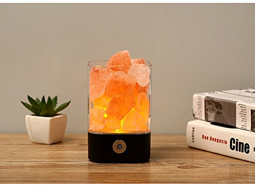 NUZAMAS salt-lamp-5w-squar-blackx2