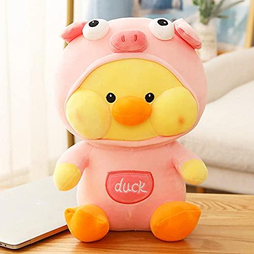 Net Red Duck Doll Duerme con un Juguete de Felpa Almohada súper Suave para consolar a Las niñas corazón Baby Doll Bed Boys Cute-Pink_35 cm [algodón de Calidad]