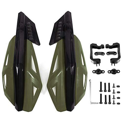 tongzhou Guardamanos para Motocicleta, ABS, Protector Resistente a caídas,Universal para Motocicleta,Bicicleta eléctrica, Scooter,7/8 Pulgadas,22 mm(Verde Oscuro)