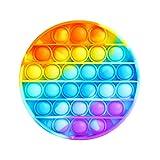AURSTORE Jouets Anti-Stress - Fidget Toy- Pop Bubble - Jouets Sensoriels à Presser en Silicone pour la Concentration et Le Calme it (Rond)