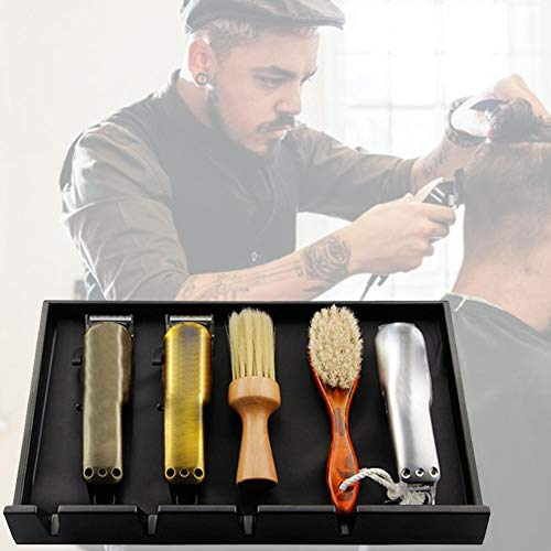 Barber Clipper Tray Anti-Slip Black Salon Clippers Organizer Razor Case Professional Hair Trimmer Holder Hairdresser Stylists Barber Tools Box