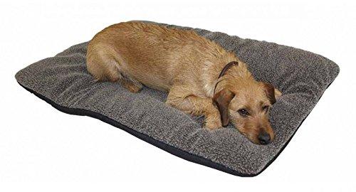 Hundedecke AKAH Faserpelz braun mit Thermofüllung 70x100 cm