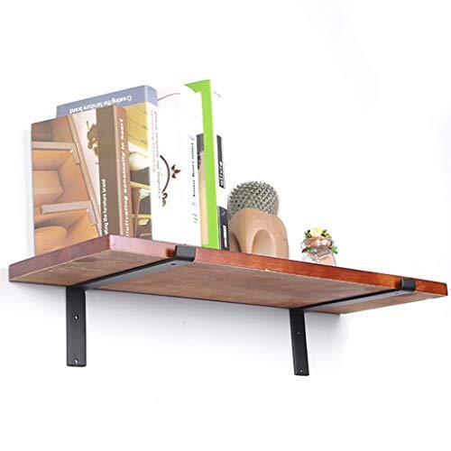 Wall Shelf Floating Shelf Wandplank, drijvende planken, wandplank van hout, decoratief hangend display rek, voor thuis en op te bergen, met klemmen (2 planken), wooncultuur, zwevende planken 60 x 20 x 2 cm.