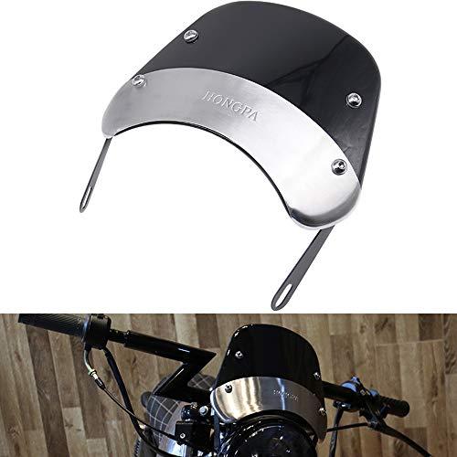AnXin Parabrezza rotondo da 12,7-17,8 cm, da faro, per la maggior parte delle moto