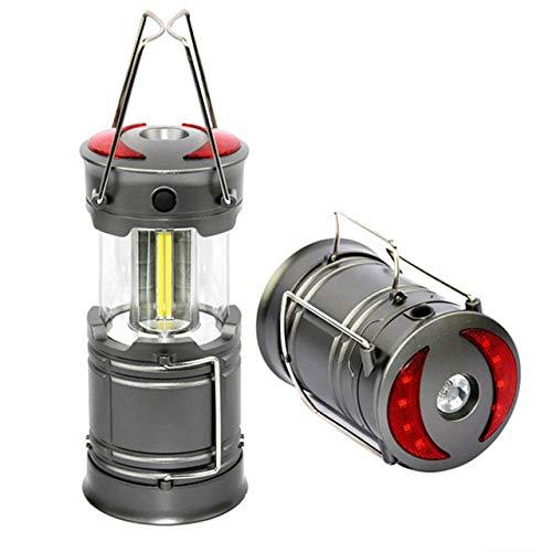 LABYSJ LED Camping Licht tragbare Taschenlampe mit AA-Batterie - Emergency, Hurrikan, Blackout, faltbar Survival Kit