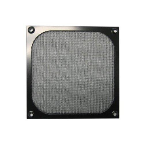 140mm Aluminum Fan Filter Grill Black