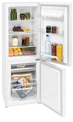 Kühl Gefrierkombi | Stand Kühlschrank | Gefrierabteil Unten | Energieeffizienz A++ | 165 Liter Nutzvolumen insgesamt | NUR 39dB - Sehr leise | LED Innenraumbeleuchtung im Kühlraum