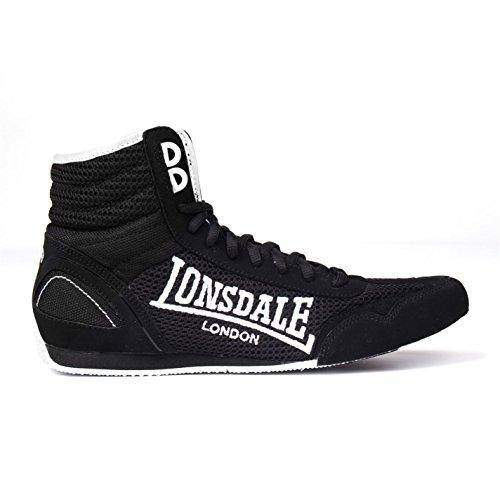 Lonsdale - Zapatillas de boxeo para niño, color Negro,