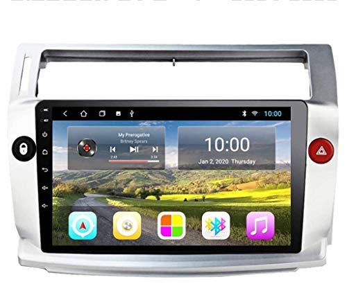ZHANGYY Sat Android Car Stereo Auto Player Radio GPS Navegación 10.1 Pulgadas Unidad Principal Audio Multimedia - Aplicable Compatible con Citroen C4 Quatre 2004-2009, al Media FM