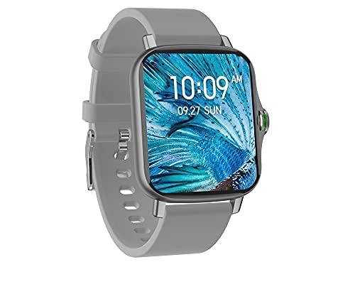 KaiLangDe Smartwatch Reloj Inteligente con Pulsómetro Cronómetros Calorías Monitor de Sueño Podómetro Monitores de Actividad Impermeable Reloj Deportivo para Android iOS Pulsera (Color : Silver)
