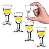REATR 4 Pack 10 ml,0.4 oz Mini Formato Bicchieri da Shot Baijiu Glass Bicchieri da Liquore da Sake Bicchiere da Vino Cinese Chinese Wine Bicchieri Shot Glasses (10ml, 4Pcs)