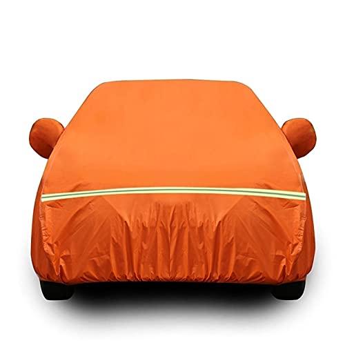 Funda Coche Compatible con Mercedes-Benz CL-Class, Transpirable Cubierta de Coche para Invierno Verano Exterior Antipolvo Cubre mpermeable Cubierta para Lona Coche (Color : Orange, Size : Coupé)