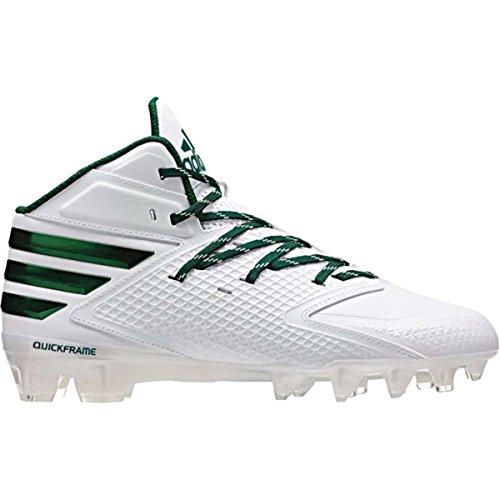 adidas Men's Freak X Carbon Mid Football Cleats, White,15 M US