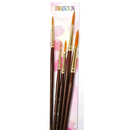Acrylic Brush Set. 5 Piece. Russian Nevskaya Palitra. Selection of Synthetic Hair Paint Brushes Suitable for Acrylic Painting