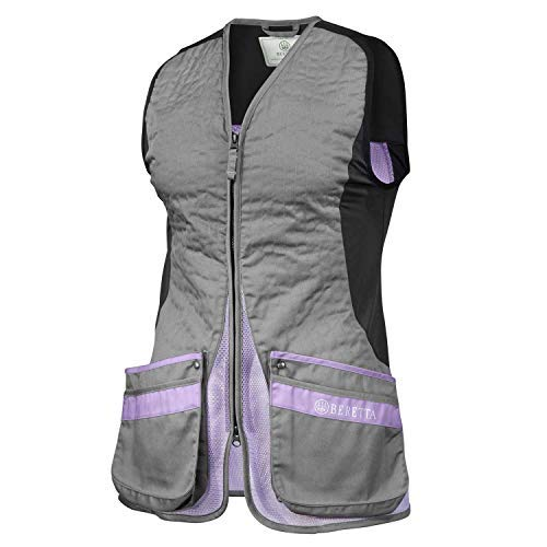 Beretta Women's Silver Pigeon Evo Range Hunting Ambidextrous Vest, Grey/Lavender, Large