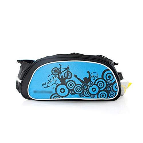 WJH Multifunctionele racefiets, mountainbike-tas, achterzijde, kofferbaktas met grote capaciteit, waterdicht en spatwaterdicht